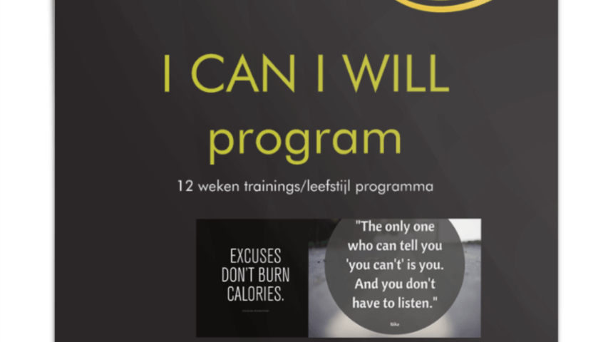 I can I will program, 12 weken programma